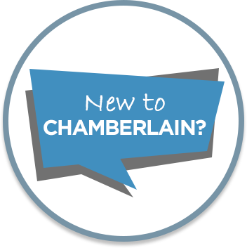 New customers to the Chamberlain website button