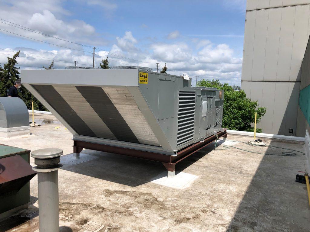 Commercial HVAC unit installation